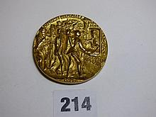 KARL GOETZ LUSITANNIA GILT COMMEMORATIVE MEDALLION