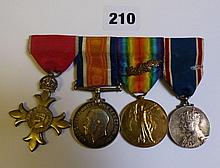 WWI MEDALS TO CAPT TN BIRD WAR MEDAL WITH OAK LEAF
