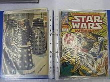 3 - A4 BINDERS STAR WARS WEEKLY - MARVEL COMIC