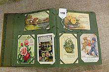 PICTURE POSTCARD ALBUM OF 86 CARDS, BIRTHDAY AND