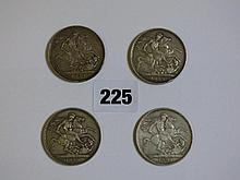 FOUR VICTORIAN JUBILEE HEAD CROWNS 1889 (X2)