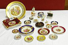 ASSORTMENT OF LIMOGE MINATURES INCLUDING LUSTRE