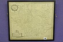 ANTIQUARIAN MAP OF LEICESTERSHIRE BY ROB MORDEN -