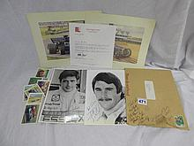 BLACK AND WHITE PHOTOGRAPH SIGNED NIGEL MANSELL &