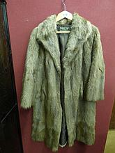 VINTAGE FUR COAT WITH BROWN LINING 'BRIANS FURS