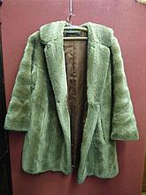 VINTAGE LADIES FUR COAT WITH CHOCOLATE BROWN