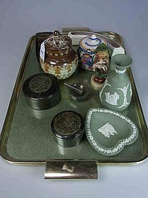 Doulton Jar, Poole Preserve Pot, Hummel Figure,