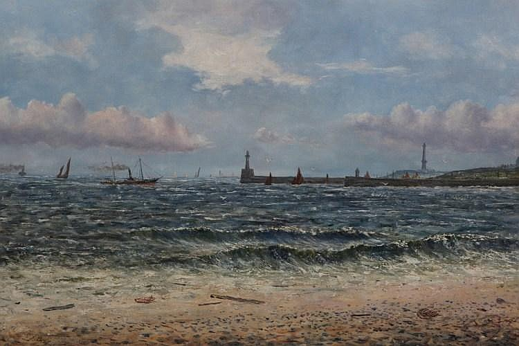 John Brett (1830-1902), Steaming into Leith,