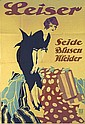Rare Original 1920s Fashion Poster Ehrenberger