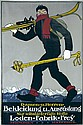 Original 1910s German Ski Travel Poster HEMEL Art