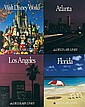 Lot of 4 Old Delta Airllines Travel Posters Disney etc.