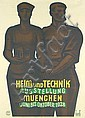 Original 1920s HEIM TECHNIK Expo Poster Plakat GLASS