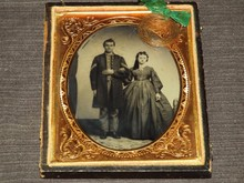 Civil War Era Tintype, Union Soldier & Wife
