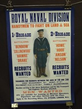 British WW1 Poster, Royal Naval Division