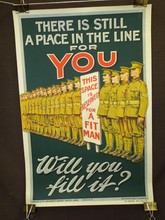 British WW1 Poster, There is Still a Place in Line