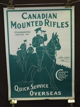 Canadian WW1 Poster, Mounted Rifles