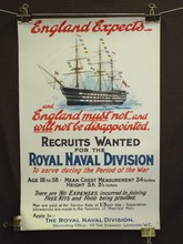 British WW1 Poster, England Expects - Royal Naval