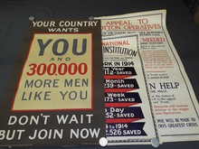 (3) British World War One Posters