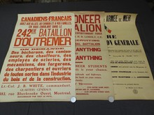 (3) World War One Broadside Posters