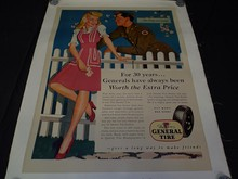 WW2 Era Poster, The General Tire, Buy War Bonds