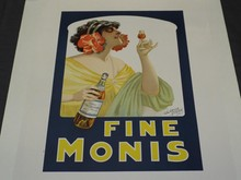 Fine Monis Wine Advertising Poster, Clerice Freres