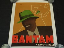Vintage Bantam Hat Advertising Poster, Boccasile