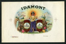 Idamont Cigar Label Inner Proof