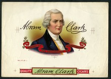 Abram Clark Cigar Label Inner Proof