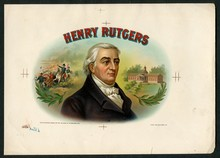 Henry Rutgers Cigar Label Inner Proof