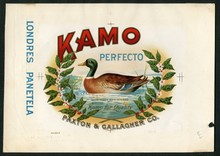 Kamo Cigar Label Inner Proof
