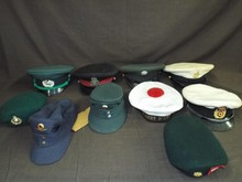 Foreign & American Military Hat Lot