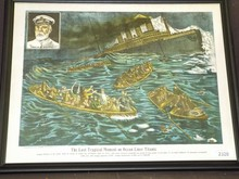 Large Color Litho of the Sinking of the Titanic