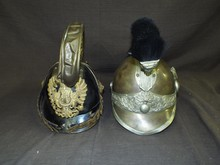 Lot of Two 19th Century Military Helmets.