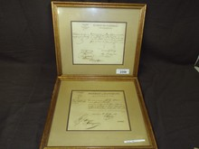 Lot of Two French Slave Documents.