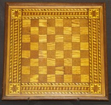 Titanic, Chess Board Made from Wreck Wood
