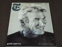 Richard Gere Signed NY Times Magazine