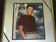 Large 16x20 Color Photo, Signed Ronald Reagan