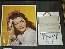 Maria Montez Color Photo & Typed Letter Signed