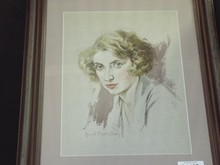 Billie Burke Watercolor by Howard Chandler Christy