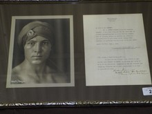 1923, Rudolph Valentino Photo & Signed Document