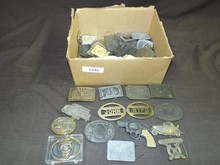 Lot of Assorted Military Related Belt Buckles