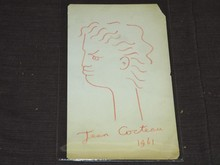 Jean Cocteau Signed Drawing