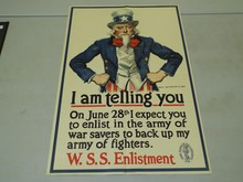 WW1 United States Poster, I Am Telling You