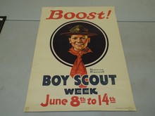 Norman Rockwell, Boost Boy Scout Week Poster