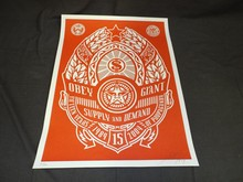 Shepard Fairey, Supply & Demand Signed Silkscreen