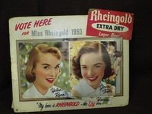 1953 Miss Rheingold Electric Counter Display Sign