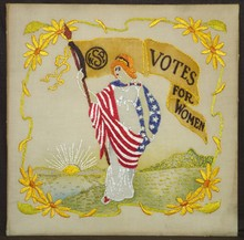 20th Century Women's Suffrage Party Embroidery