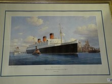 RMS Queen Mary Print, Artist Signed