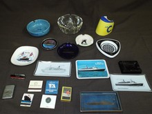 Lot of Assorted Ocean Liner Related Ashtrays