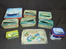 Ocean Liner Related Tin Lot